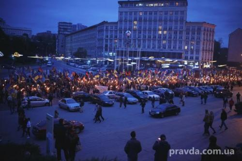 Fackelmarsch in Kiew 30