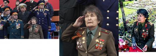 Frau mit Weltkriegsorden