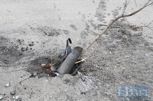 Hülse einer Grad-Rakete in Mariupol