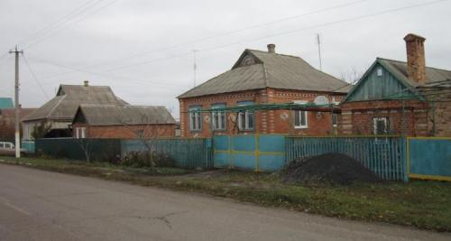 Häuser im Donezker Gebiet