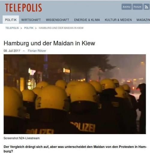 Telepolis: Hamburg und der Maidan in Kiew