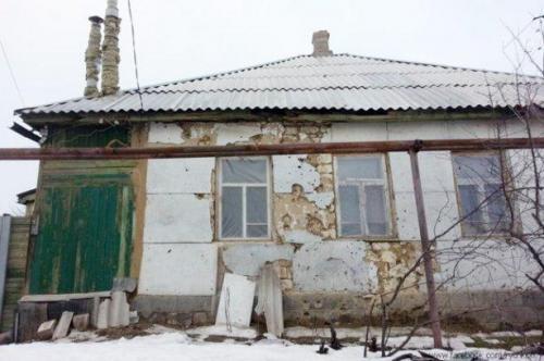 Haus in ukrainischer Siedlung