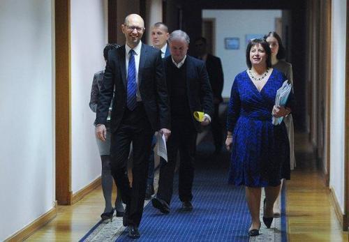 Arseni Jazenjuk und Natalija Jaresko