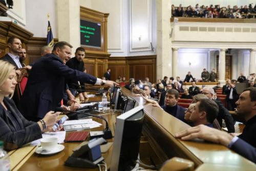 Kriegsrecht Oleh Ljaschko im Präsidium