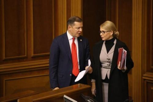 Kriegsrecht Oleh Ljaschko und Julija Tymoschenko