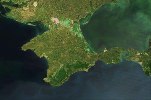 Nasa-Satellitenfoto der Halbinsel Krim (gemeinfrei)