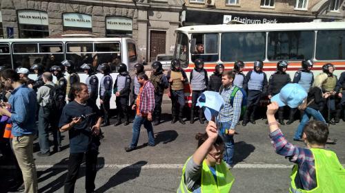 KyivPride unter Polizeischutz