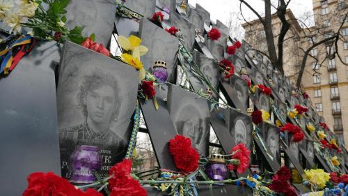 Nach offiziellen Angaben zählen zur Himmlischen Hundertschaft 107 umgekommene Ukrainer. Foto Eldar Sarchman
