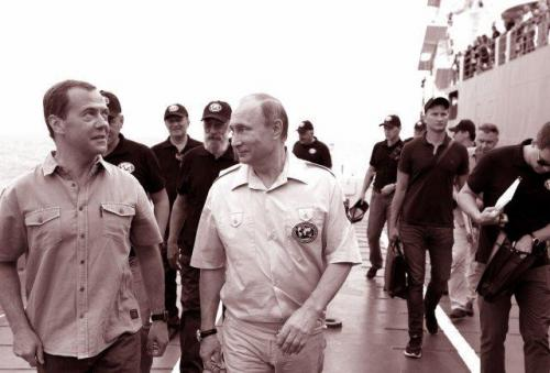 Medwedew und Putin