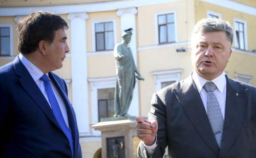 Micheil Saakaschwili und Petro Poroschenko in Odessa