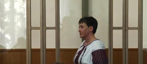 Nadija Sawtschenko im Donezker Gerichtssaal