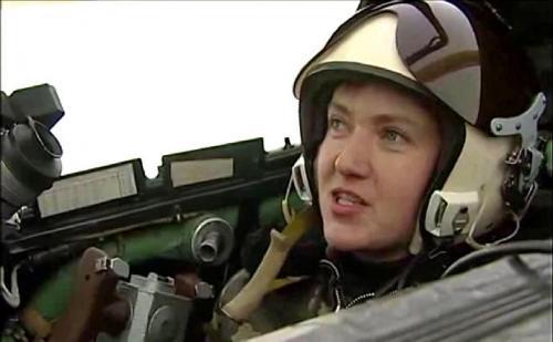 Nadija (Nadeschda) Sawtschenko als Pilotin