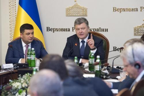 Petro Poroschenko mit Wolodymyr Hrojsman
