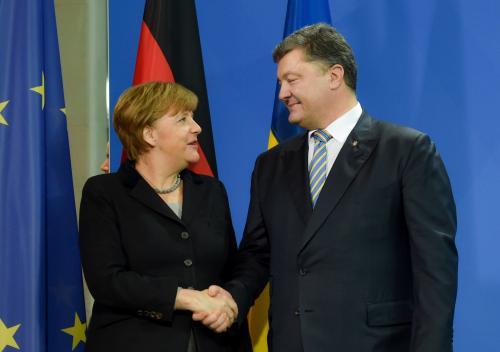 Petro Poroschenko und Angela Merkel
