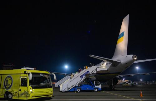Präsidentenflugzeug bringt 33 Ukrainer aus Wien nach Kiew