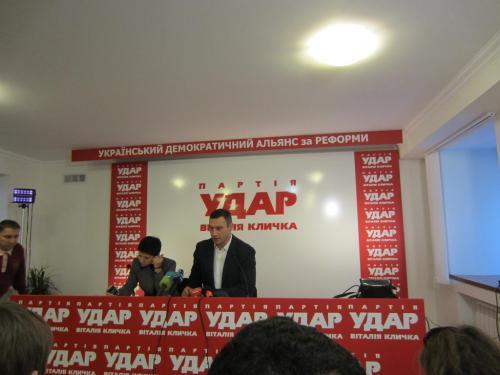Pressekonferenz Witalij Klytschko