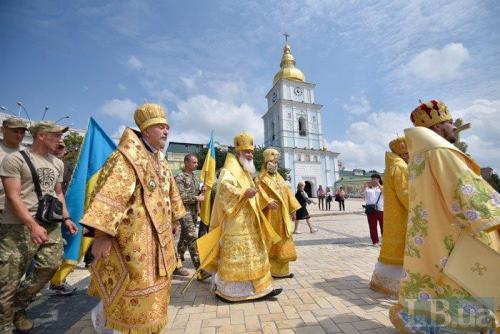 Prozession der Ukrainischen Orthodoxen Kirche des Kiewer Patriarchats