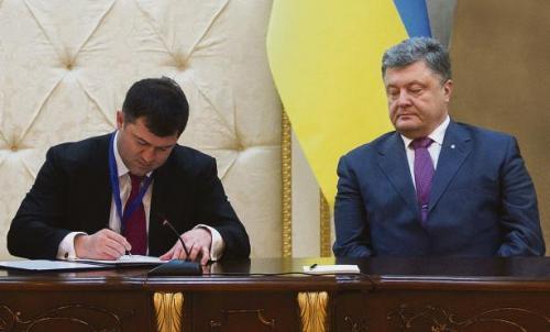 Roman Nassirow und Petro Poroschenko