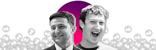 Wolodymyr Selenskyj - Wladimir Selenskij - Mark Zuckerberg