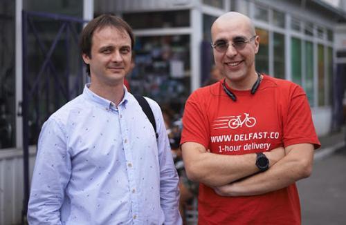Unternehmensgründer Sergej Denissenko und Danil Tonkopij