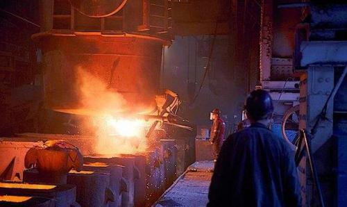 ukrainisches Stahlwerk