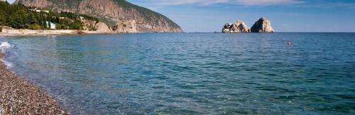 Strand in Gursuf auf der Krim