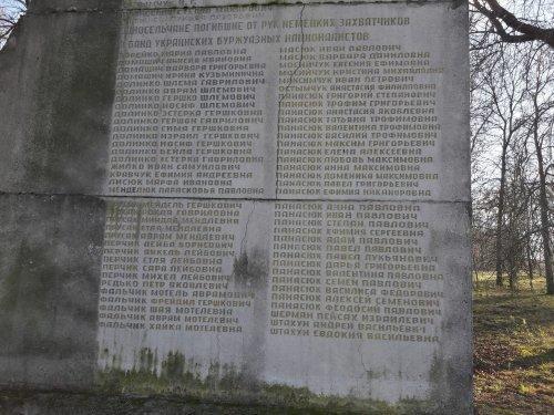 Namen der in Sudtsche von den Deutschen und ihren ukrainischen Helfern ermordeten Menschen