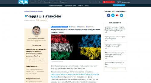 Ukraine - Ungarn - Nato