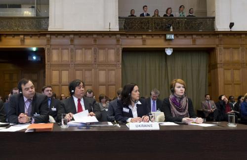 Ukrainische Delegation beim Internationalen Gerichtshof