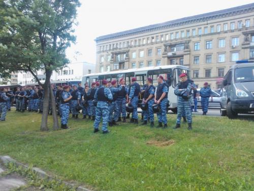 """""""Berkut""""-Sondereinheit der Miliz"""