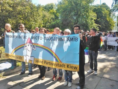 Fronttransparent der Demonstration