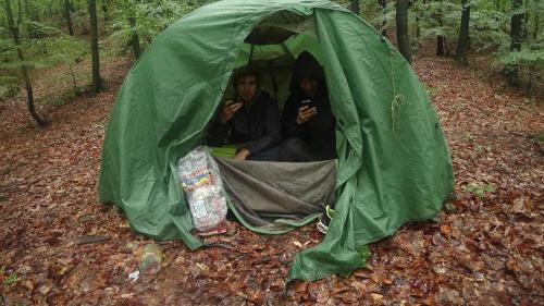 Meistens schliefen die Jungs in einem Zelt.