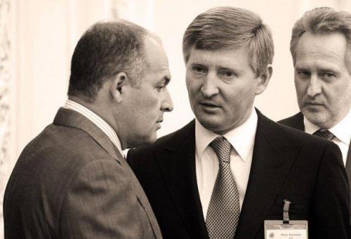 Wiktor Pintschuk, Rinat Achmetow und Dmytro Firtasch