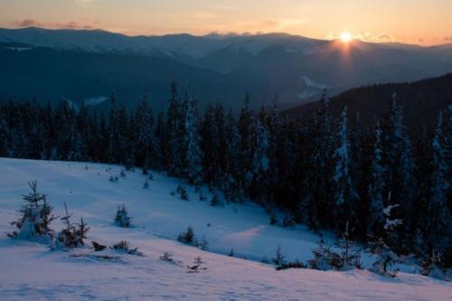 Winter in den ukrainischen Karpaten 12