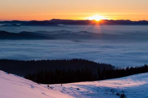 Winter in den ukrainischen Karpaten 13