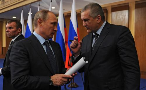 Wladimir Putin und Sergej Aksjonow