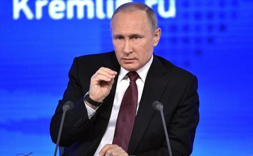 Wladimir Putin auf seiner Jahresendpressekonferenz 2016
