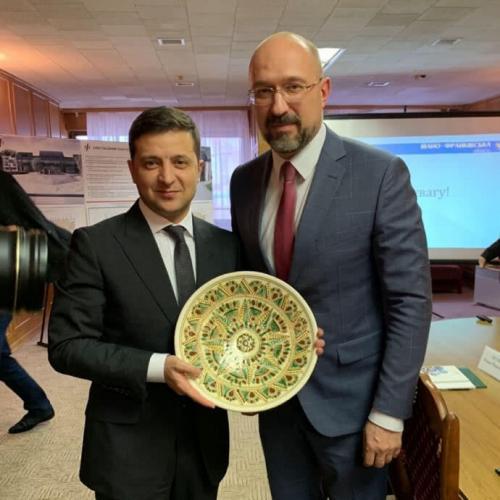 Wolodymyr Selenskyj und Denys Schmyhal - Wladimir Selenski und Denis Schmygal
