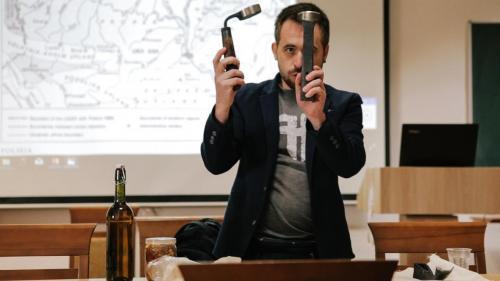 """Maxym Pschelow, Grafikdesigner und Mitgründer des Vereins """"Bortnyky Ukrajiny"""""""