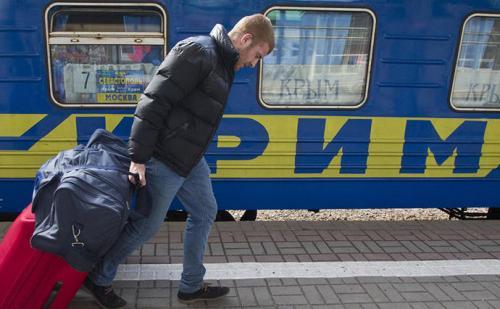 Zug Nr. 7 Sewastopol-Moskau auf der Krim
