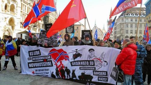 Antiimp-Clowns gegen Nato, EU und ukrainische Bandera-Nazis