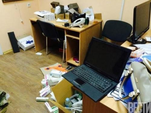 Redaktionsraum der Zeitung Westi nach der Durchsuchung durch den SBU