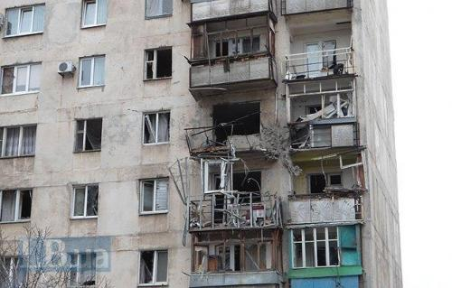 getroffenes Haus in Mariupol