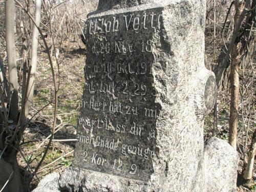 Grab eines deutschen Kolonisten