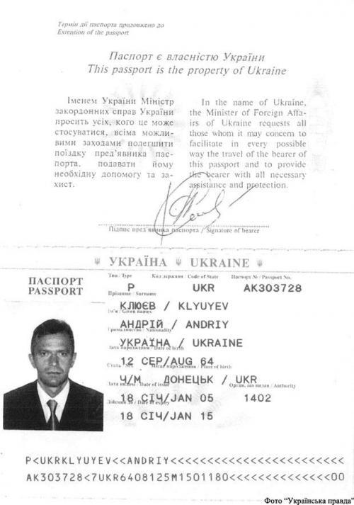 Pass Andrij Kljujew