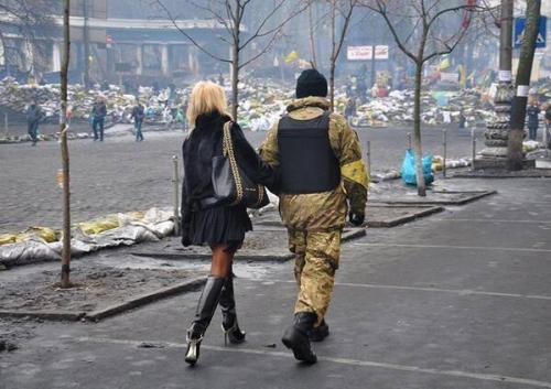 Mitglied der Selbstverteidigung des Maidan