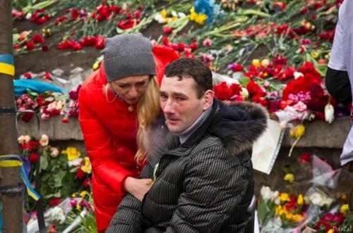 Trauer um die erschossenen Demonstranten