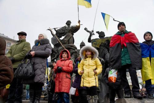 """Bander-Anhänger"" in Kiew"