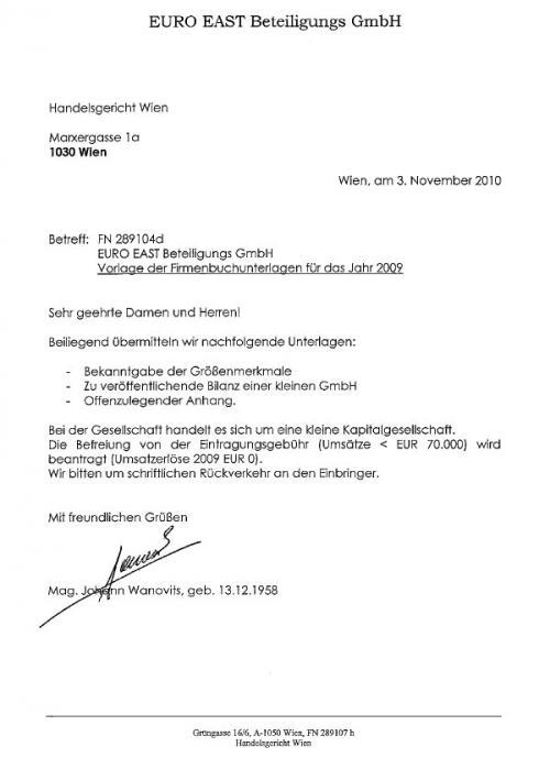 Euro East Beteiligungs GmbH Auskunft