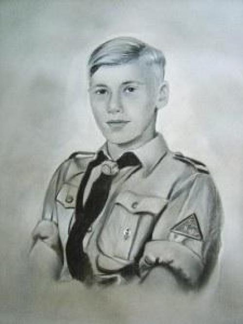 Porträt eines ukrainischen nationalen Kämpfers